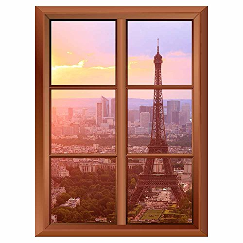 Removable Wall Sticker / Wall Mural - Eiffel Tower in Paris -