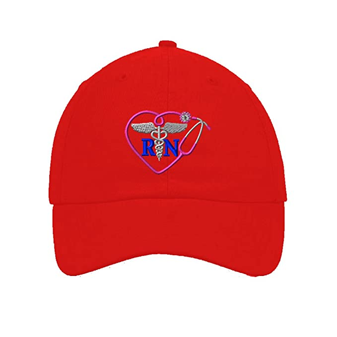 d332c16de09 Amazon.com  Speedy Pros Cotton Low Profile Hat Rn Nurse Medicine ...
