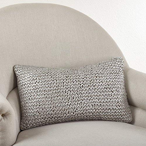 Fennco Styles Cassandra Collection Knitted Design Pillow - 3 Colors - 2 Sizes (12