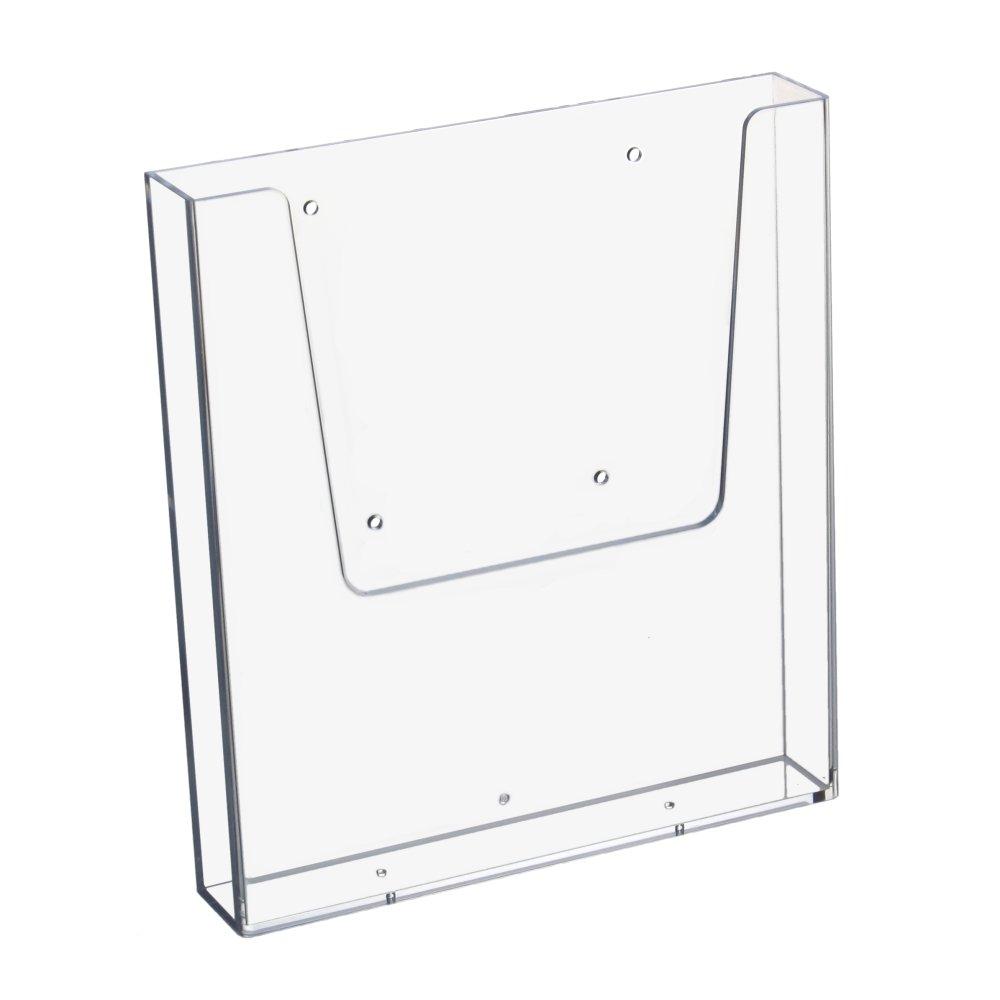 transparente Soporte de pared para folletos vertical para DIN A4