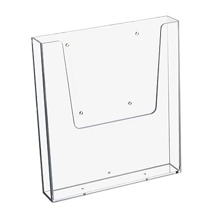 Prospekthalter Wand Din Lang 99x210mm Hochformat Flyerhalter transparent