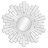 Everly Hart Collection Beveled Silver Starburst