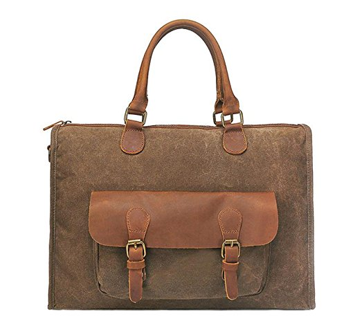 Messenger Men's Portable Brown Bagzhangor Briefcase Vintage Canvas Zhangor Shoulder Multifunctional qR1FqHx6