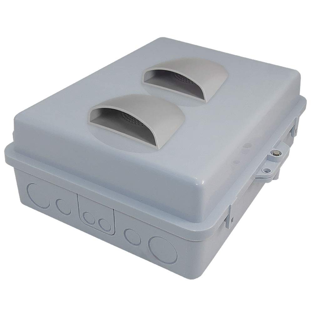 Altelix Vented NEMA Enclosure (12'' x 8'' x 3.2'' Inside Space) Polycarbonate + ABS Weatherproof NEMA Box with Aluminum Equipment Mounting Plate by Altelix (Image #4)