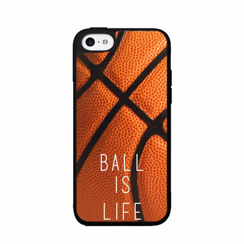 Basketball Ball Is Life - Plastic Phone Case Back Cover (iPhone 4 4s ) comes with Security Tag and MyPhone Designs(TM) Cleaning Cloth