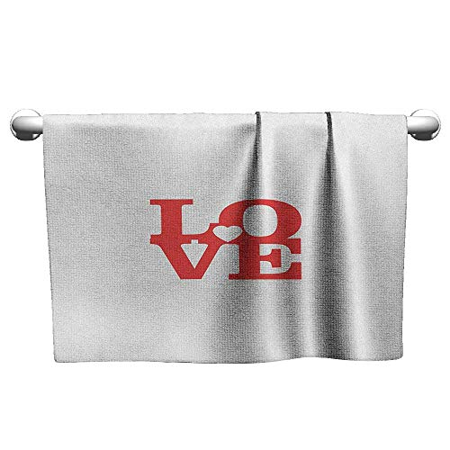Outdoors Microfiber Quick Dry Travel TowelLove Valentines Day Design Romance Themed Vintage Wedding Inspirations Typographic Retro and Swimming Ultra Light Fast Drying and Absorbent14