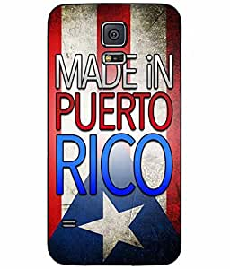 Made in Puerto Rico TPU RUBBER SILICONE Phone Case Back Cover Samsung Galaxy S5 I9600