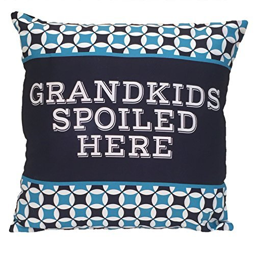 Spoontiques Grandkids Spoiled Here Pillow [並行輸入品] B07RCTZ9Z2