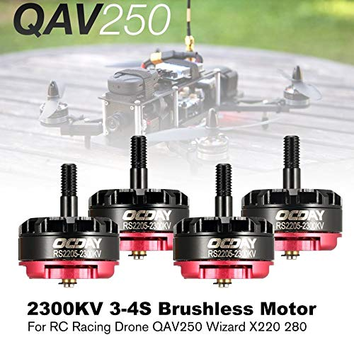 Wikiwand 4pcs OCDAY RS2205 2300KV 3-4S CW CCW Brushless Motor for RC Racing Drone by Wikiwand (Image #3)
