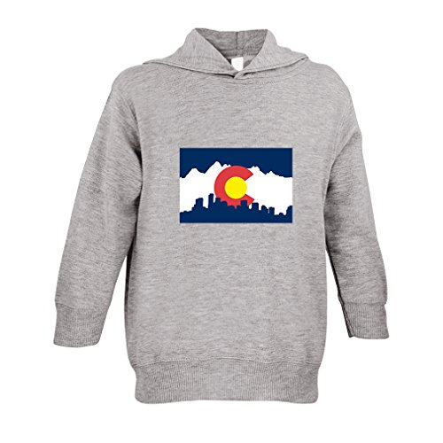 Cute Rascals Colorado Flag Toddler Pullover 100% Fleece Hoodie Oxford Gray - Colorado Fleece Pullover