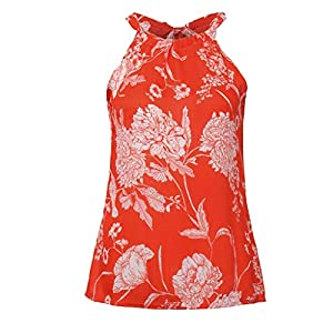 Canifon Women's T-Shirts Sleeveless Crew Neck Casual Blouses Hollow Solid Color Vest Simple Summer Retro Tunic Tops