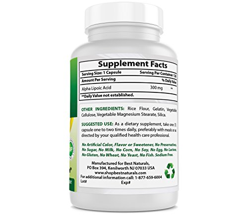 Best Naturals Alpha Lipoic Acid 300 mg 120 Capsules by Best Naturals (Image #5)