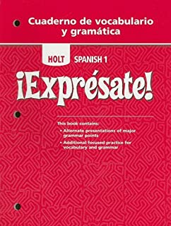 Amazon expresate spanish 3 9780030453724 rinehart and exprsate cuaderno de vocabulario y gramatica student edition level 1 english and fandeluxe Choice Image
