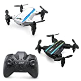 Mini Quadcopter, KINGBOT H345 Micro Foldable Mini RC Drone Mini Dual-Aircraft Combination Quadcopter with 2 Set JJI (White) & JJII (Black)