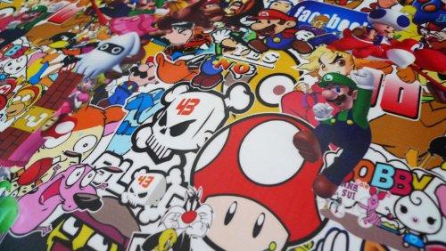 Free Tool Kit MAO JDM Bomber Anime Graffiti Cartoon Car Auto Laptop Vinyl Wrap Sticker Decal Film Sheet - 60''X600'' by JDMBESTBOY (Image #4)