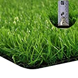 GT Life Artificial Grass for Dogs Synthetic Turf Decorative Runner Rugs with Drainage Holes Blade Height 1.2inch Indoor/Outdoor, 2'x5'=10 Sq ft, Spring Lawn