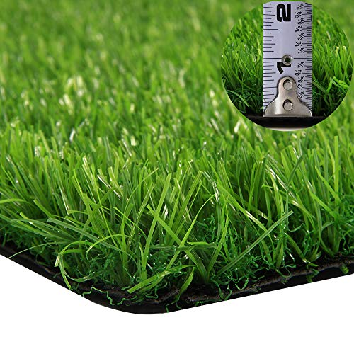 GT Life Artificial Grass for Dogs Synthetic Turf Decorative Runner Rugs with Drainage Holes Blade Height 1.2inch Indoor/Outdoor, 2'x5'=10 Sq ft, Spring Lawn by GT Life