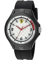 Ferrari Mens 0830289 Laptime Analog Display Japanese Quartz Black Watch