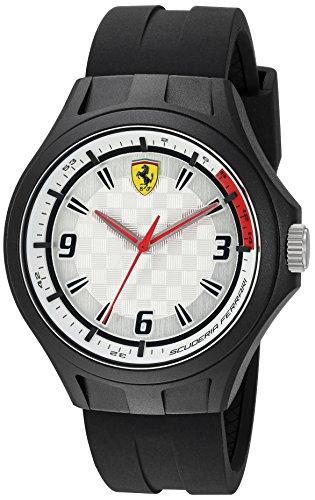 Ferrari Men's 0830289 Laptime Analog Display Japanese Quartz Black - On Ferraris Line