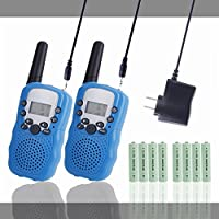 Kids Walkie Talkies, Walkie Talkies for Kids Rechargeable Long Range 2 Pack, Children Walkie Talkie, 2 Way Radios Wireless, Pack with Rechargeable Batteries and Charger (Blue)