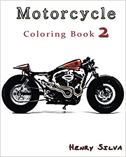 Amazon.com: Motorcycle : Coloring Book 2: design coloring book ...