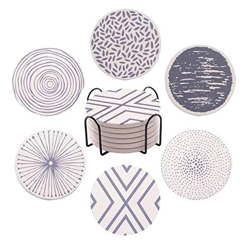 FLASHOME Coasters for Drinks Absorbent with