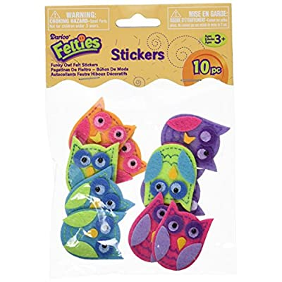 Darice Feltie Stickers 10/Pkg-Funky Owl: Arts, Crafts & Sewing