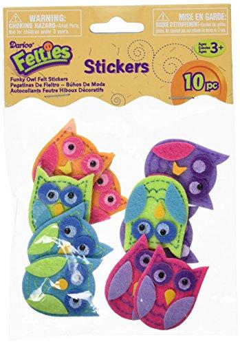 Darice Feltie Stickers 10/Pkg-Funky Owl