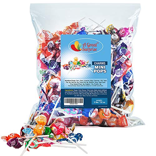 Charms Lollipops - Charms Mini Lollipops - Bulk Candy - 2 Pounds