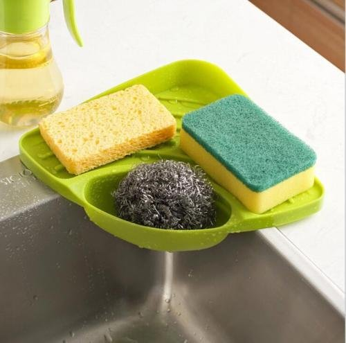 Cheap  VIPASNAM-Creative Bathroom Kitchen Sink Corner Storage Rack Plastic Sponge Holder(random color)