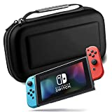 XNTBX Carrying Case compatible with Nintendo Switch – 20 Game Cartridges Protective Hard Shell Travel Carrying bag Pouch for Nintendo Switch Console & Accessories, Black For Sale