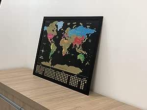 Mapa Mundi de Raspadinha Unlocked - opções com molduras