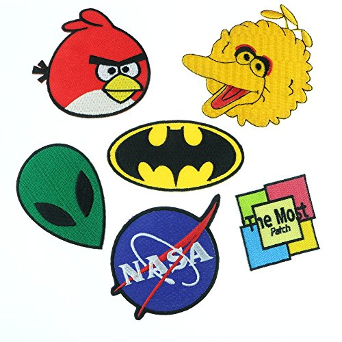 NASA Space Cartoon Movie Logo Sign Symbol Iron/Sew on Patch Applique Embroidered (A014)