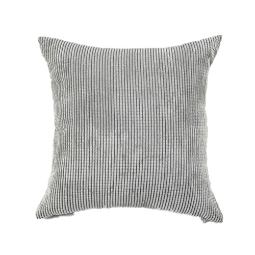 HAMANY Corn Kernels Corduroy Square Decorative Throw Pillow Case Cushion Cover,Grey,24