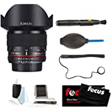 Rokinon FE14M-P 14mm F2.8 Ultra Wide Fixed Lens for Pentax & Photographers Accessories Bundle