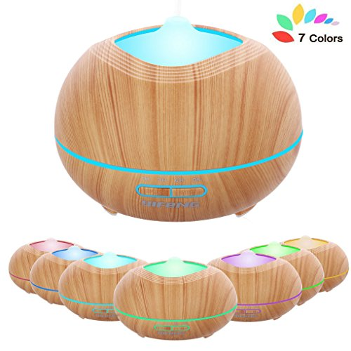 YiFeng Essential Oil Diffuser, 400ml Wood Grain Ultrasonic A