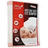 Airoya Premium 2-sided Cot Bed Bumper, Double layers for extra-padding, Safety Standard Compliance - BS 1877, Breathable Safe Cot liner (Pink)