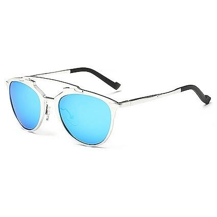 KOMEISHO Novedad diseñador Tonos Gafas de Sol polarizadas pequeñas de los Hombres ovales Marco Completo de