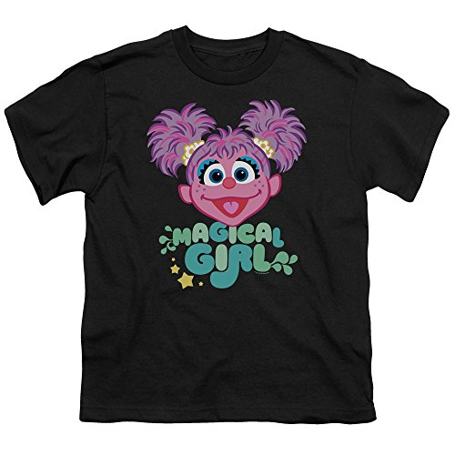 Sesame Street Scribble Head Unisex Youth T Shirt for Boys and Girls, Medium Black
