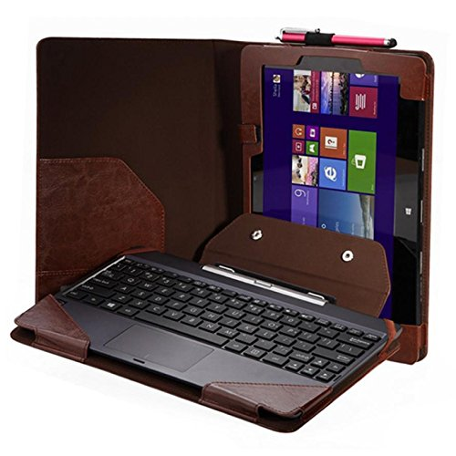 """Maxry(TM)New Hot Sale Triple Keyboard Leather Case+Pen For 10.1"""" ASUS Transformer Book T100TA high Quality Snow"""