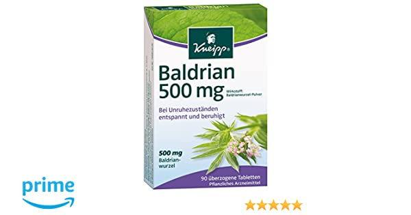Kneipp Baldrian, 500 mg, 90 comprimidos,90 unidades: Amazon.es: Salud y cuidado personal