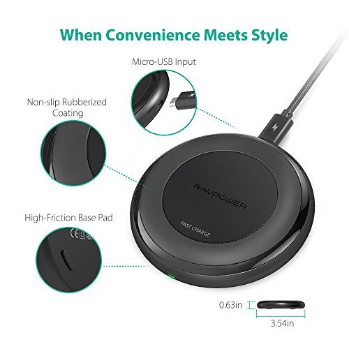 RAVPower-Fast-Wireless-Charger-for-iPhone-8-8-Plus-iPhone-X-QI-Wireless-Charging-Pad-for-Samsung-Galaxy-S8-Note-8-S8-Plus-S7-S7-Edge-S6-and-All-Qi-Enabled-Devices-QC-30-Adapter-Included