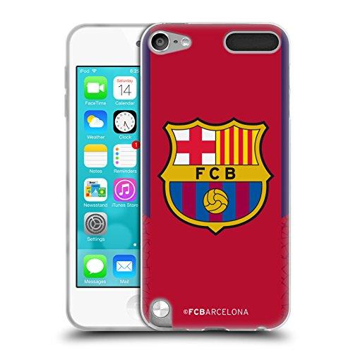 3099fe16a Official FC Barcelona Goalkeeper Red 2017 18 Crest Kit Soft Gel Case for  Apple iPod