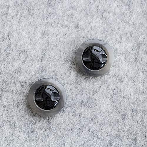 【マーブルデザイン】コートボタン #BT209 1穴 18mm C/#06 グレー 10個セット