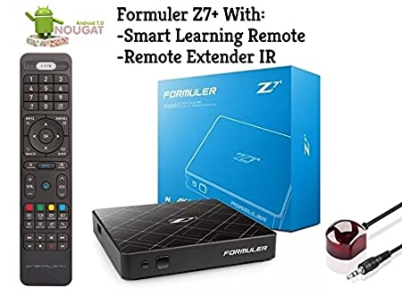 Amazon.com: Formuler z7+ Android Nougat 7.1 WiFi with Smart Learning Remote and Remote Extender IR: Electronics