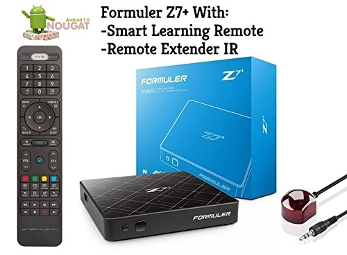 Formuler z7+ ANDROID NOUGAT 7.1 WIFI With Smart Learning Remote and Remote Extender IR by Formuler Z7+