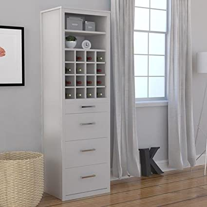 White Lacquer Wall Bed Side Storage Bar Kit For Coventry Or Churchill  Cabinet