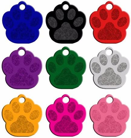 Dog Tag 100Pcs Anodizing Aluminum Dog Tag Name Dog ID Tags For Dog Collar Personalized Pet ID Dog Name Tag Dog Tag Customized Engraving Dog Id Tag (Color : Heart 37×36, Size : Black)