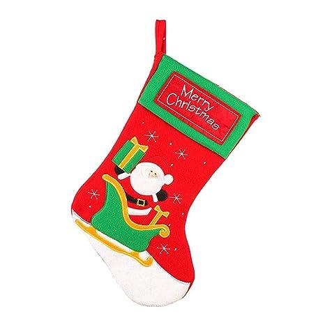 Calcetines de Papá Noel hechos a mano, regalo de Navidad personalizado, multicolor