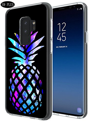 S9 Plus Case Pineapple,Gifun [Anti-Slide] and [Drop Protection] Soft TPU Protective Case Cover for Samsung Galaxy S9 Plus (2018) - Brightly Colored Marble Pineapples